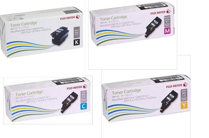 4 Pack Fuji Xerox DocuPrint DPCP115/116/225W/CM115W/225FW